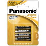 Baterii Panasonic Alkaline Power Bronze LR03/AAA 4 bucati
