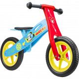 Bicicleta din lemn fara pedale 12 Mickey Seven SV9908Initiala