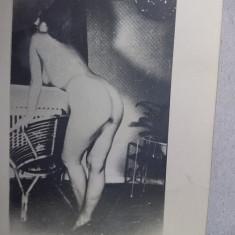 fotografie veche NUD,Foto veche/retro FEMEIE NUD,9 cm/7 cm,de colectie,T.GRATUIT