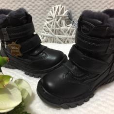 Bocanci inalti imblaniti negri pantofi iarna copii baieti fete 28 29, Din imagine