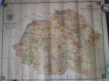 HARTĂ ROMÂNIA : Localități în care se află spitale și clădiri sanitare - 1922
