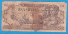 """(8) BANCNOTA ROMANIA - 100 LEI 1947 (25 IUNIE 1947), SERIE """"INTERESANTA"""" foto"""