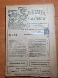 Sanatatea si viata fericita 1-15 martie 1920-revista de medicina populara