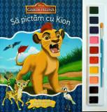 Disney. Garda Felină. Să pictăm cu Kion. Carte de colorat cu pensulă și acuarele
