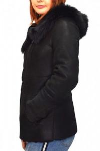 Cojoc dama, din blana naturala, Kurban, 7-01-95, negru