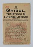 GHIDUL TURISTULUI SI AUTOMOBILISTULUI , HARTA ROMANIEI , CAROUL 14 - CLUJ -TURDA - ZALAU de M.D. MOLDOVEANU , 1936