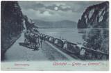 # 2426- Romania, Orsova salutari, carte post. circulata 1902: Cazane noaptea