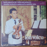 LP Ion Voicu ‎– Bach Concertos For Violin And Orchestra