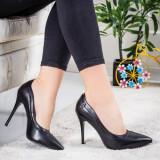 Pantofi Pitana negri eleganti -rl
