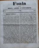 Foaia pentru minte , inima si literatura , nr. 15 , 1863 , Brasov , I. Muresanu