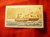 Serie Terres Australes et Antartiques Franceze -1983 Nava , 1 val. 0,55fr, Nestampilat