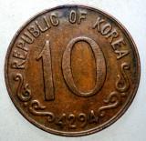 7.779 KOREA DE SUD 10 HWAN 4294/1961, Asia, Bronz