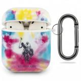 Husa Protectie Casti U.S. Polo Tie Dye pentru Apple AirPods Gen 1 / Apple AirPods Gen 2, Multicolor USACA2PCUSML
