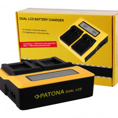 PATONA | Incarcator DUAL LCD pt Panasonic VBN130 VBN260 VBN390