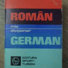MIC DICTIONAR ROMAN-GERMAN - GH. HANES