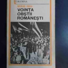 Vointa Obstii Romanesti - Nicolae Iorga ,542560