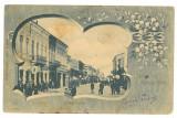 5161 - RAMNICU-SARAT, Buzau, Victoriei street - old postcard - used - 1904