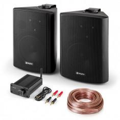 "Skytec PA HiFi Set ""Bluetooth Play BK"" | 120Wpereche de difuzoare | Mini Bluetooth amplificator | cablu 10m"