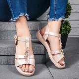 Sandale dama bej Tenilia