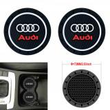 Cumpara ieftin Set 2 x Pad Silicon Antialunecare Suport Pahare Audi 7.2cm
