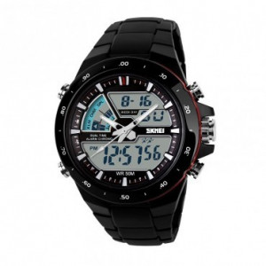 Ceas Barbatesc SKMEI CS891, curea silicon, digital watch, functie cronometru, alarma, data, 5 ATM