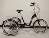 Triciclu adulți, cadru pliabil, roți 24 inch,  Shimano cu 6 trepte,, 16.5