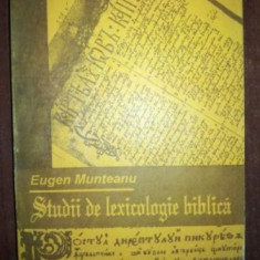 Lectii de lexicologie biblica- Eugen Munteanu