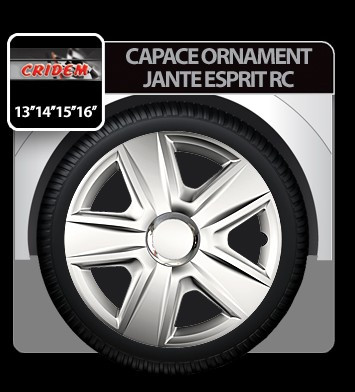 Capace ornament jante Esprit RC 4buc - Argintiu - 14' - CRD-VER1420RC Auto Lux Edition foto