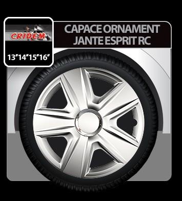 Capace ornament jante Esprit RC 4buc - Argintiu - 14' - CRD-VER1420RC Auto Lux Edition