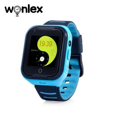 Ceas Smartwatch Pentru Copii Wonlex KT11 cu Functie Telefon, Apel video, Localizare GPS, Camera, Pedometru, Lanterna, SOS, IP67, 4G - Albastru foto
