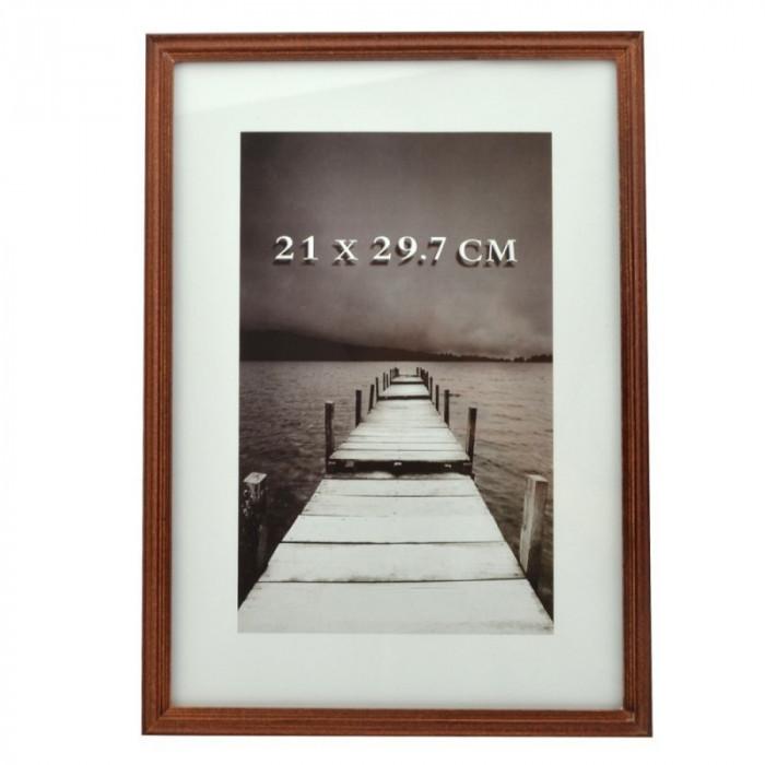 Rama foto din lemn, format A4, mahon, Resigilata