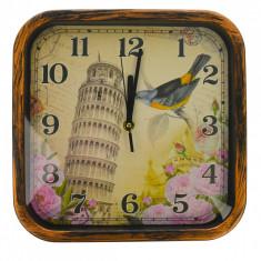 Ceas de perete, 28 x 28 cm, patrat - CEAS03