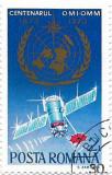 Centenarul Organizatiei Meteorologice Internationale si Mondiale, 1973 - oblit., Organizatii internationale, Stampilat