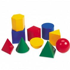 Corpuri geometrice din plastic Learning Resources, 10 piese, 5 - 9 ani