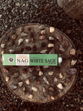 Betisoare Naturale Parfumate Nag Californian White Sage-Vijayshree 15g(12-15buc)