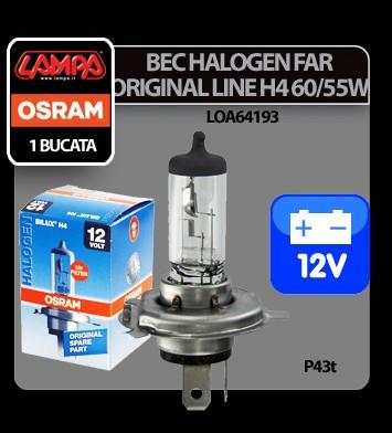 Bec Osram H4 60/55W P43t 12V Original Line 1buc - CRD-OS64193-01B Auto Lux Edition foto