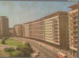 CPIB 17104 CARTE POSTALA - BUCURESTI. SALA PALATULUI, AUTOBUZ, Circulata, Fotografie
