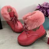 Cumpara ieftin Bocanci roz imblaniti ghete cu inimioare pt fetite bebe 20 21 23 24 25, Fete
