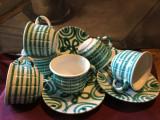 Arta / vintage - Set 6 farfurii / cesti de cafea sau ceai Gmunder Keramik !