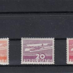 ROMANIA  1936   FONDUL   AVIATIEI   AEROPORT  SERIE  MNH