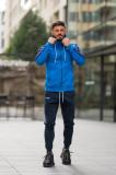 Trening Bumbac Stripe-Fit cu gluga albastru UFIT322, L, M, S, XL, XXL
