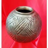 Vaza metal, vintage, deosebita, 16 cm