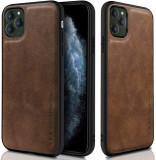 Cumpara ieftin Husa X-Level iPhone 11 Pro din silicon si piele ecologica Luxury Leather, Maro
