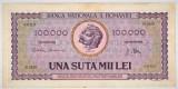 Bancnota 100.000 lei ( 100000 ) 25 ianuarie 1947 portret Decebal+Traian (3)