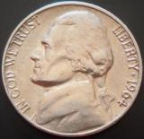 Moneda 5 CENTI - SUA, anul 1964 *cod 1473