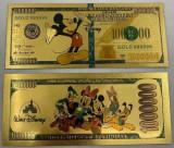SUA - Set 5 bancnote fantasy seria DISNEY din polimer placate cu aur de 24k