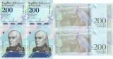 2 x 2018 ( 13 III ) , 200 bolívares ( P-107b ) - Venezuela - stare UNC