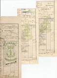 România, taxe comunale, 3 facturi emise de Percepţia comunală Bucureşti 1916-18