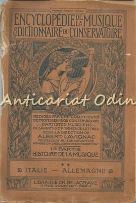 Encyclopedie De La Musique Et Dictionnaire Du Conservatoire - Albert Lavignac