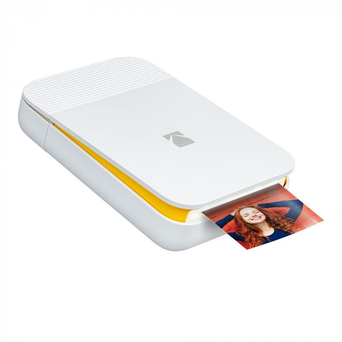 Imprimanta foto portabila Kodak Smile, Bluetooth, Galben, Imprimare Termica